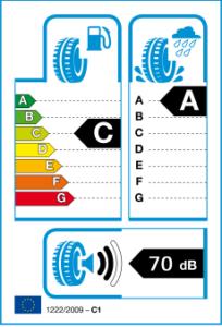 Etiquetage pneu runflat Bridgestone Driveguard